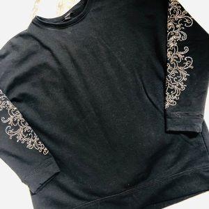 Forever 21 studded arm sweatshirt size large